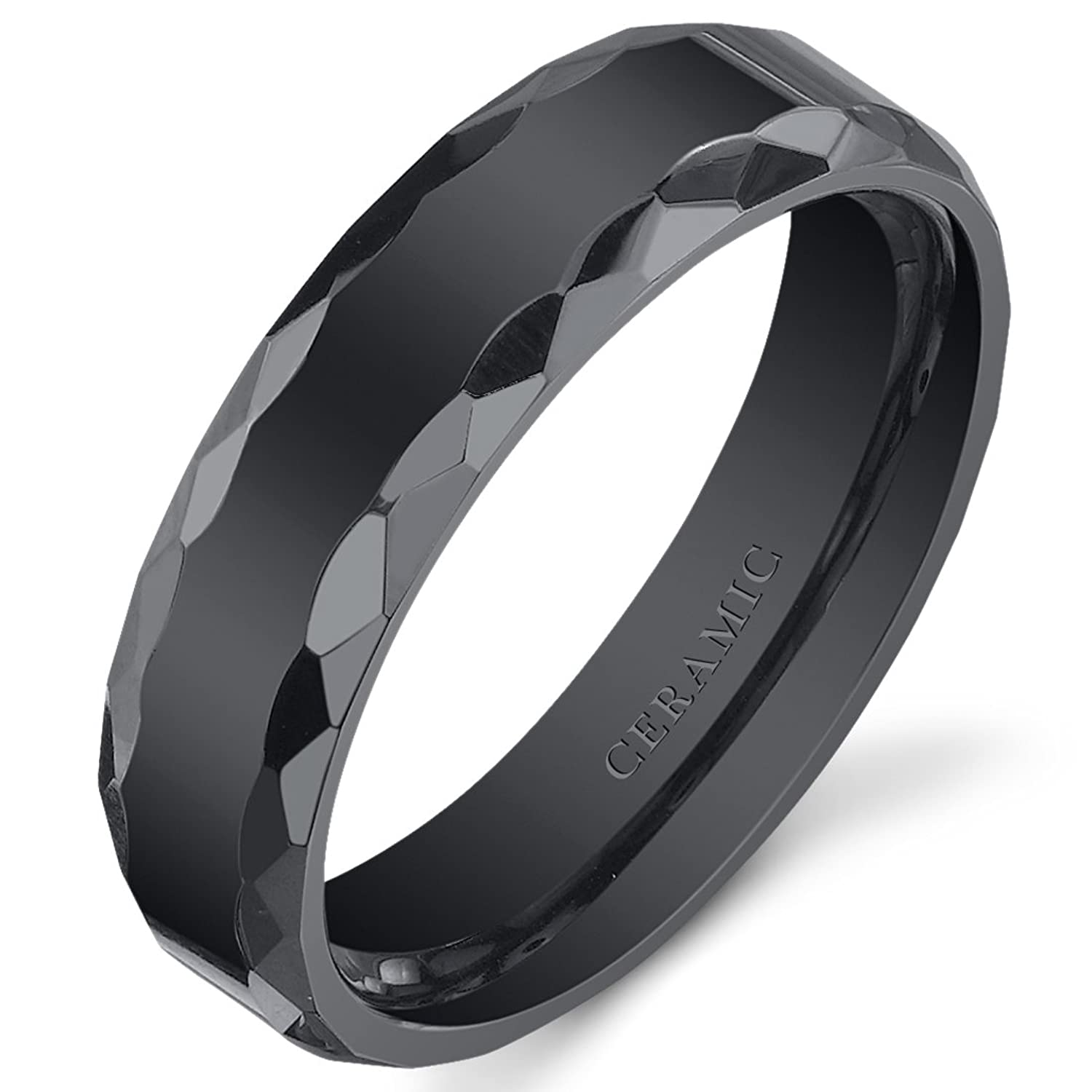 black c titanium sterling by silver rings mirell edward mens band