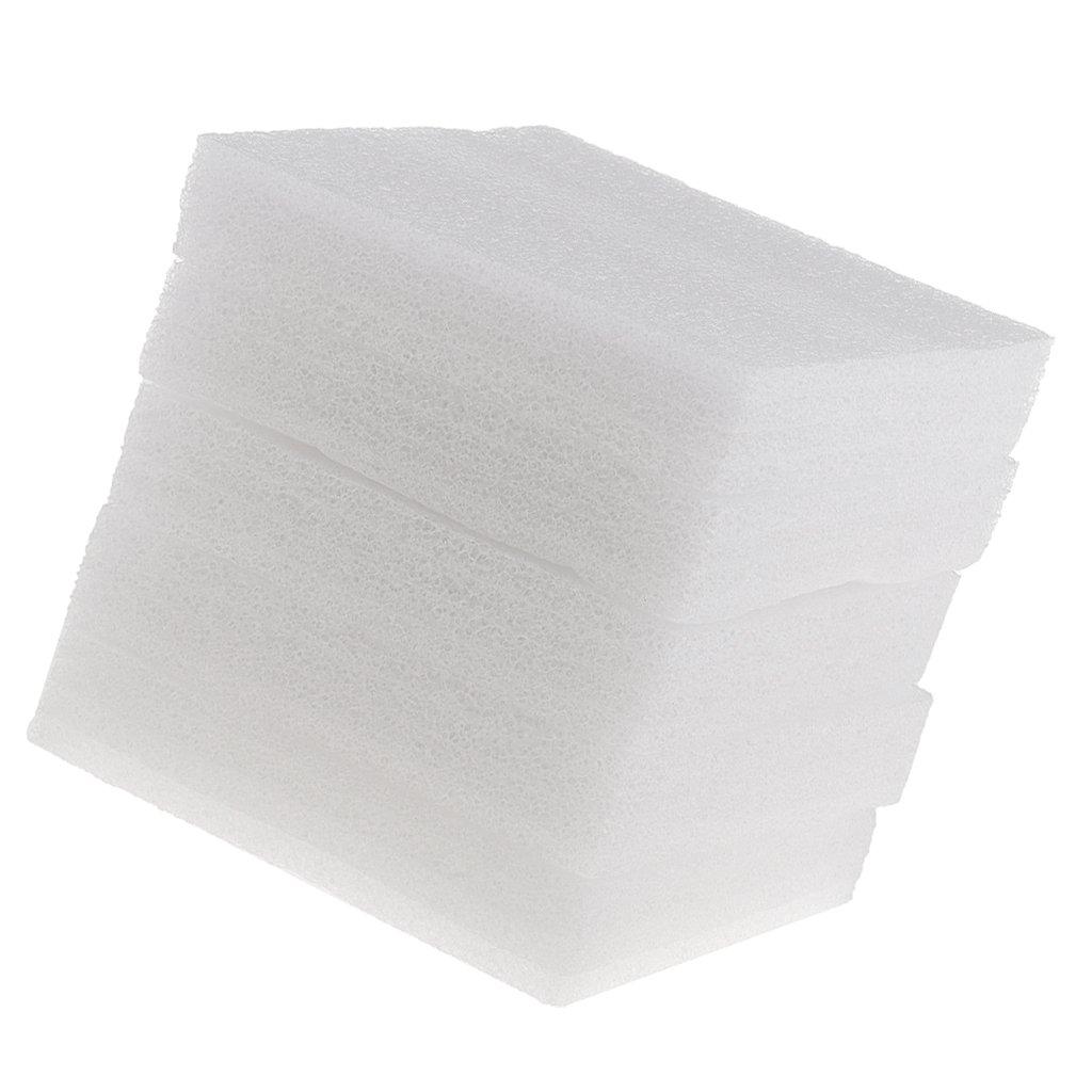 Prettyia 5 Piece White Foam Needles Felting Pad Mat Wool Felt Accessories for Sewing Craft - 12x12mm