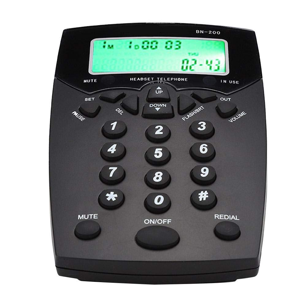 Lazmin Call Center Telephone, Business Wireless Desktop Wall Telephone with LCD Display for Customer Service (1#)