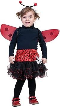 Halloweenia – Niña Infantil Disfraz Mariquita Mayo Escarabajo con ...