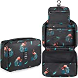 BOOEEN Travel Toiletry Bag, Waterproof Hanging Travel Bags, Toiletry Bag for Women and Girls Large Capacity.(Black)