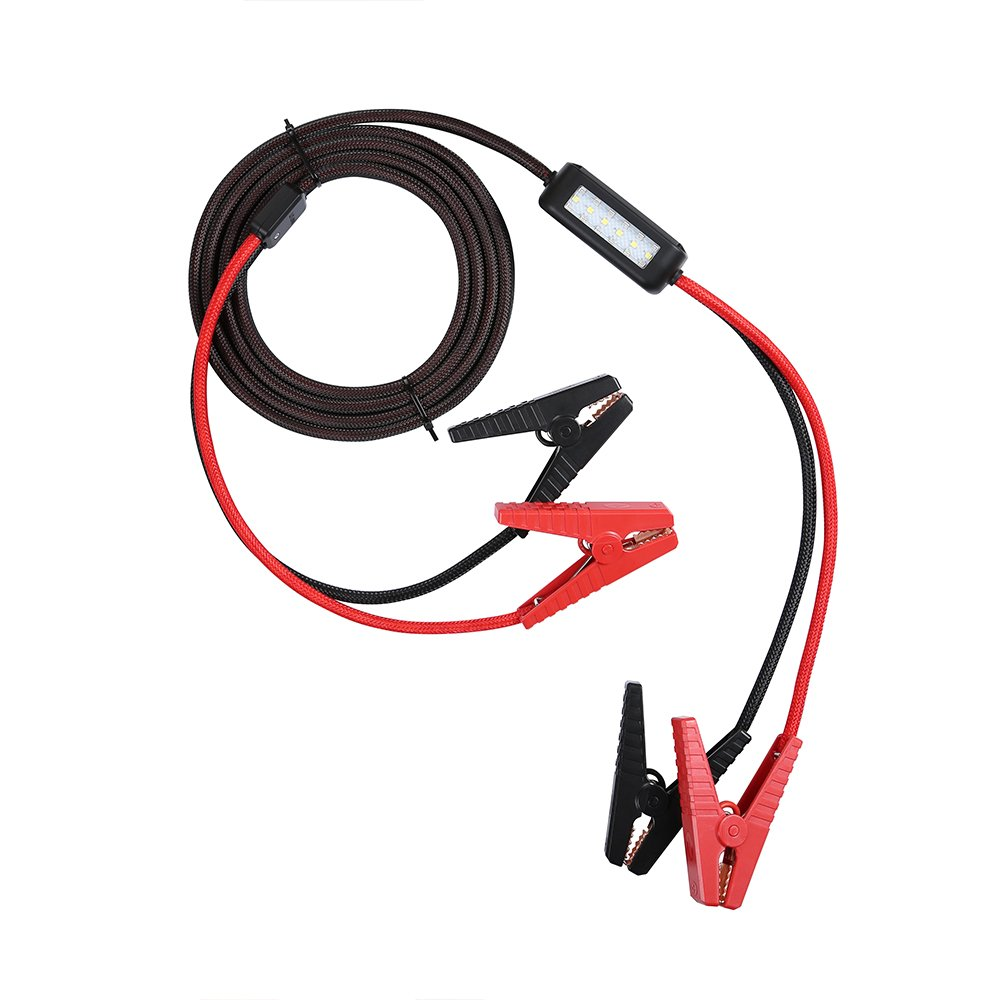 ANTARKE 8-Gauge 400A Heavy Duty Jumper Battery Cables with Zipper Bag and Color Box Booster Cable