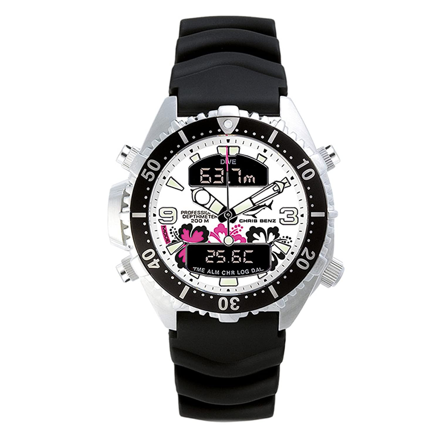 Chris Benz - CB-D-ALOHA-KB - Montre Mixte - Quartz Analogique - Digital - Gauge-ChronomÈtre-Aiguilles-Luminescent -