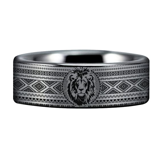 Amazon.com: Plata León Tribal, Courage inspirado boda banda ...