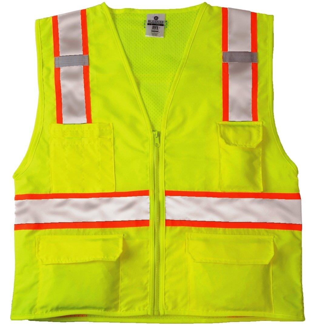 ML Kishigo 1163 Ultra-Cool Mesh Back Solid Front Vest, Medium, Lime
