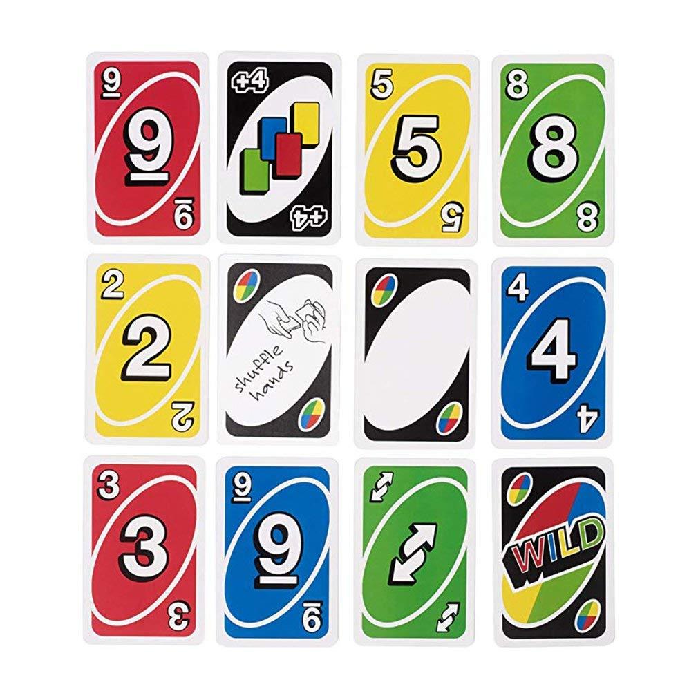 Uno Solitaire Uno Brain Board Game Poker Classico Gioco di Carte Colori Coordinati