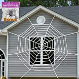 Pawliss Giant Spider Web with Super Stretch Cobweb Set, Halloween...