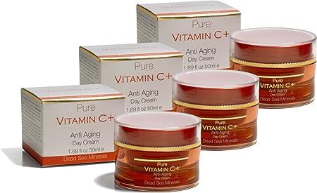 Pure vitamin C and Anti-Aging Day Cream Three Units
