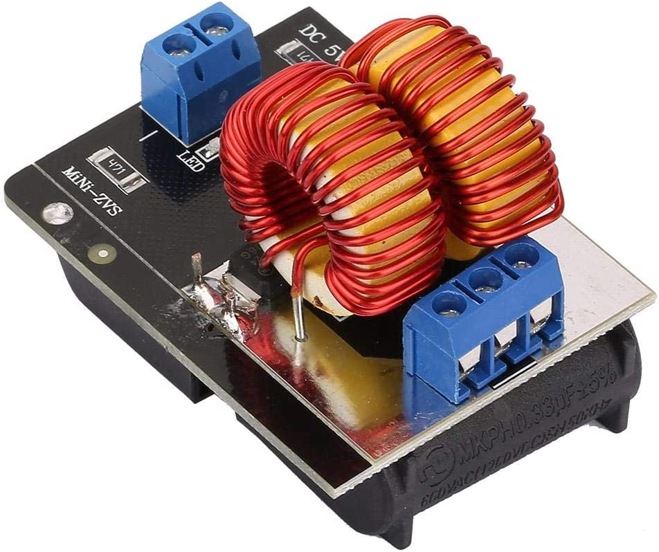 5 ~ 12V M/ódulo de calentamiento por inducci/ón Mini ZVS Tablero de calentamiento por inducci/ón con bobina Calentador de controlador de retorno M/ódulo de m/áquina de calentamiento por inducci/ón de alta f