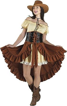 chiber Disfraces Disfraz Vaquera Chica Saloon Western: Amazon.es ...