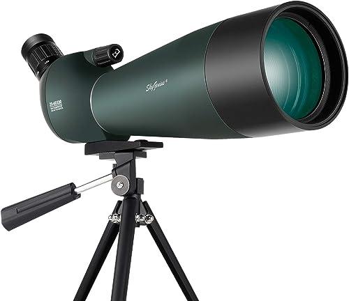 SkyGenius Spotting Scope, 20-60×80 Spotting Scope for Bird Watching Shooting Archery Moon Gazing, Optics Zoom 98-62FT 1000M Tripod Included