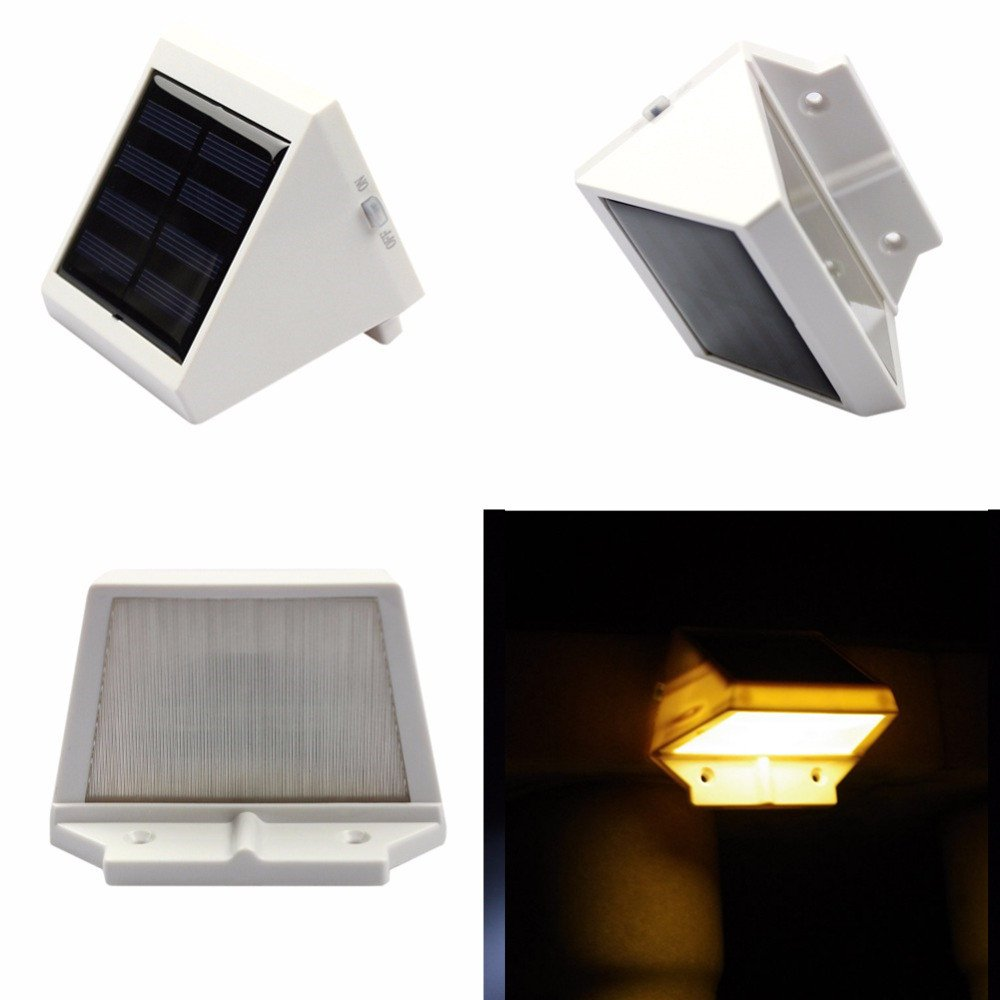Hulorry LED Solar Lights for Fence Garden, Outdoor Solar Powered Light LED Waterproof Wireless Fence Lamp Emergency Lighting Security Wall Light Triangle Light for Garden,Patio and Pathway by Hulorry