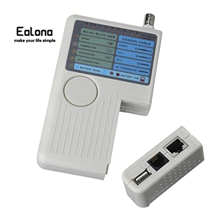 Multifuntional Network Cable Tester - Ealona 4 in 1 LAN Cables Remote Tracker Detector RJ11/