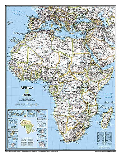 National Geographic: Africa Classic Wall Map - Laminated (24 x 30.75 inches) (National Geographic Reference Map)