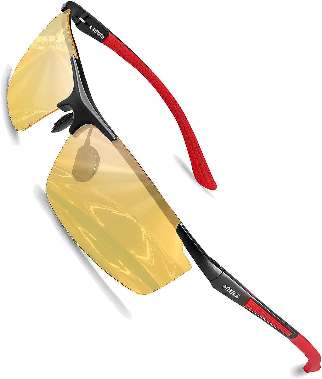 SOXICK 2019 Night Vision Glasses Anti Glare Polarized HD Night Driving Glasses