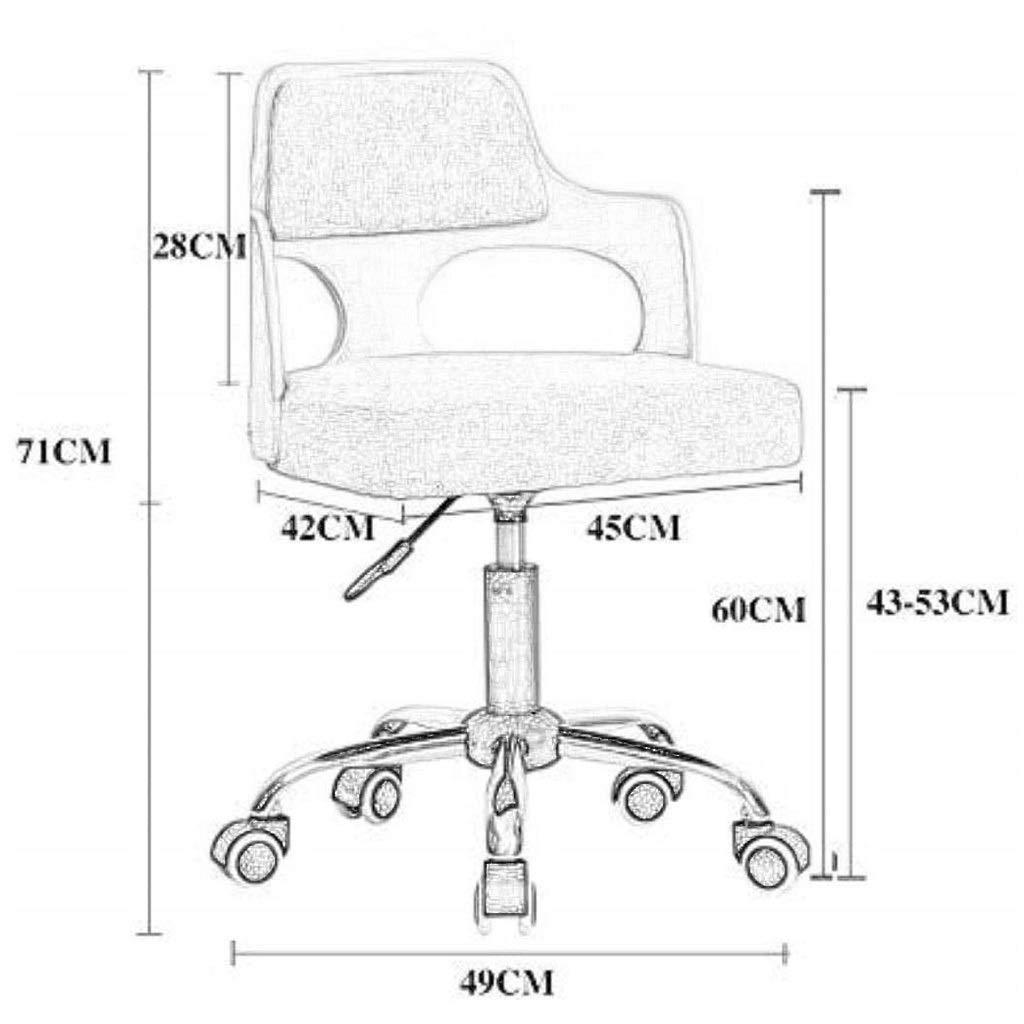 LIN HE SHOP säkerhet ergonomisk kontorsstol andningsbar massivt trä lyft liten platt skrivbordsstol datorstol kompakt hushåll läder kontor personal svängbar stol Brun Brun