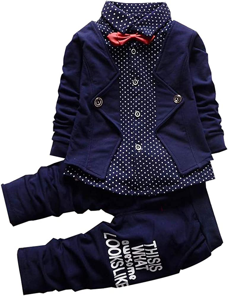 Pants Gentleman Outfits Suits IjnUhb Toddler Baby Boys Clothes Set Infant Tuxedo Formal Shirt