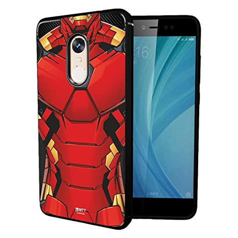 online store 45305 beee0 MTT Marvel Iron Man Officially Licensed Tough Armor Back Case Cover for  Xiaomi Redmi Note 4 (Design 48)