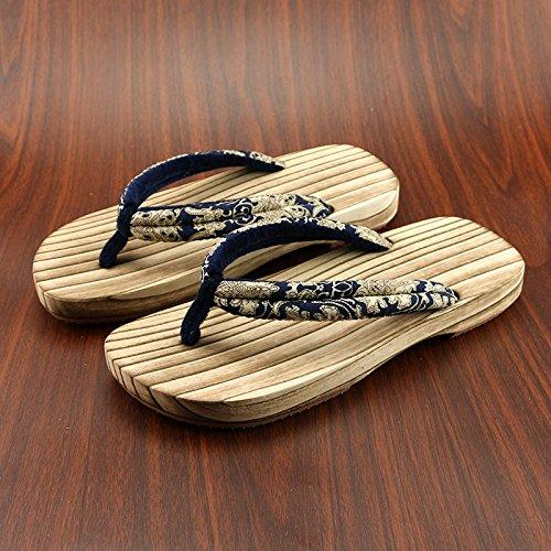 di slip di di paio 41 zoccoli legno pantofole in legno legno maschio estivo 42 cm In non di legno scarpe di uomini giapponese stile 26 femmina zoccoli modelli sezi carbonizzazione e metri zoccoli la vqwxfz17H