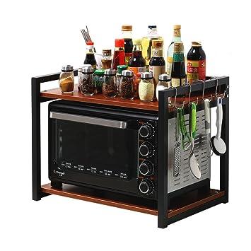 MAGO Estante de Almacenamiento en la Cocina Bandeja de Esquina Estante Estufa Microondas Horno Utensilios Multifunción