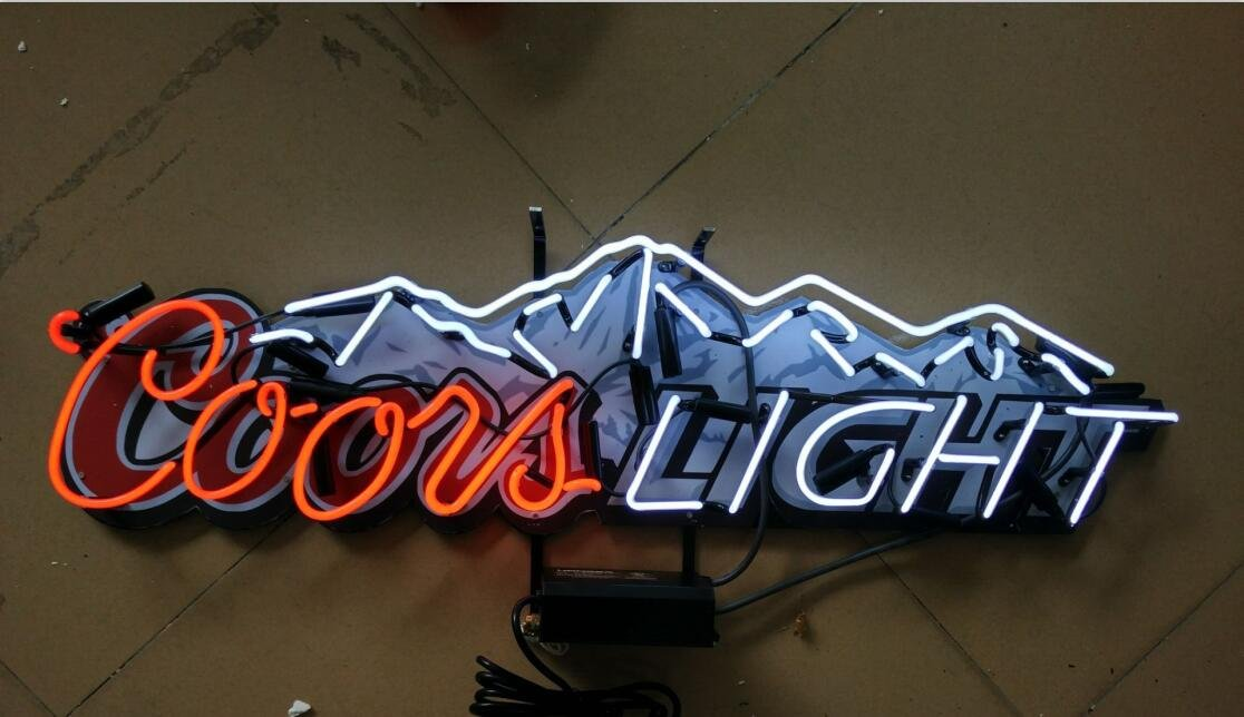 Coors light neon sign top deals lowest price superoffers mirsne 37 by 11 coors light neon signs glass tube neon open sign aloadofball Choice Image