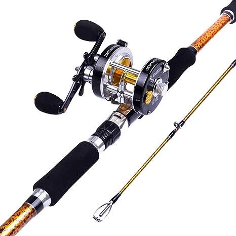 Juego de cañas de Pescar 2.4 m Pistola de Rodillos de Carbono ...