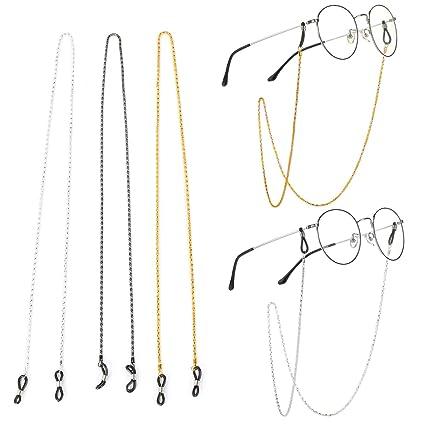 IPOTCH Metall Perlen Brillen Kette Brille Sonnenbrille Halter Gl/äser Schn/üre Gurt Brillen Halter in Gold Farbe