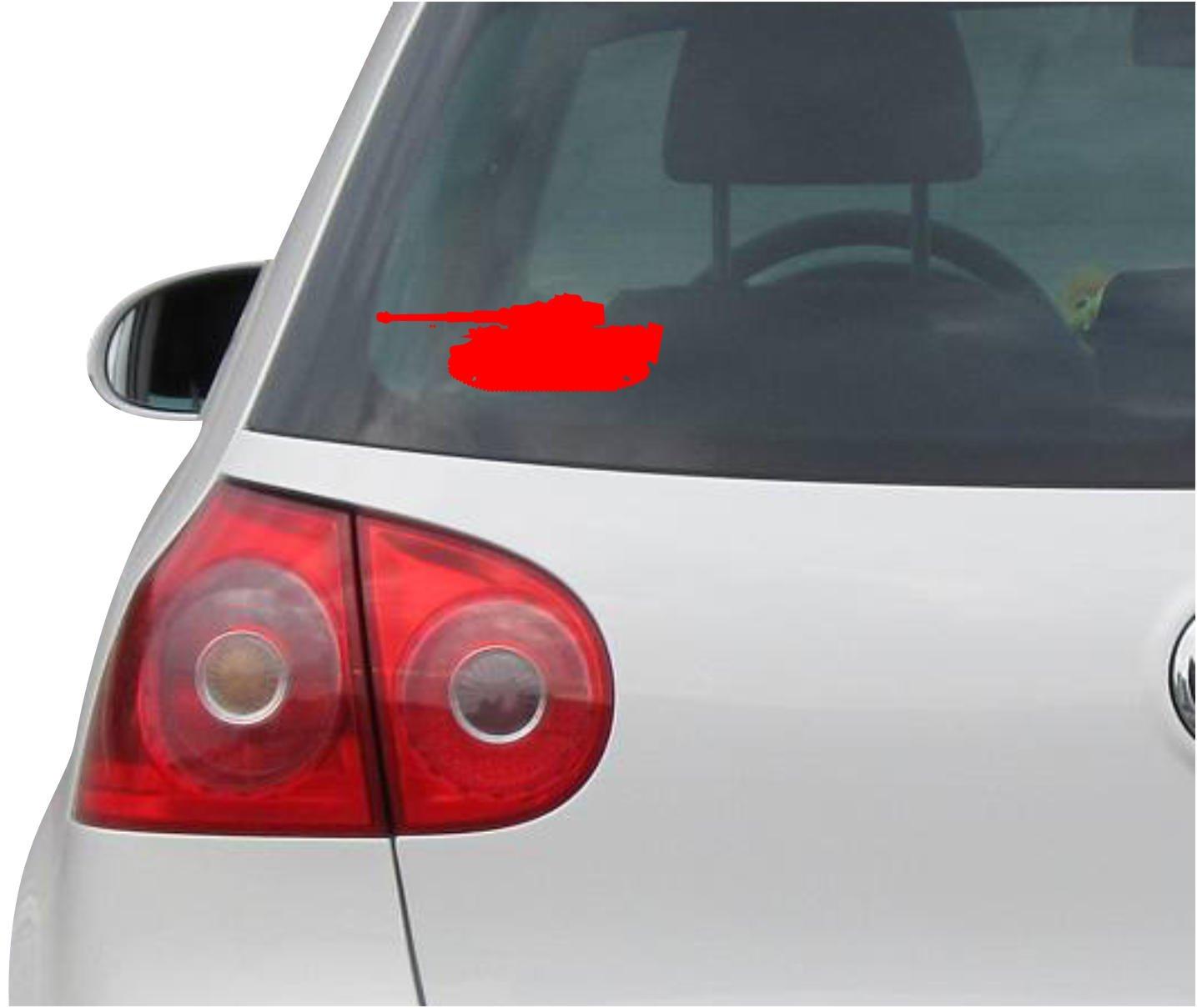 Amazon com indigos ug sticker decal jdm die cut tiger tank german wwii panzer decal window sticker silver 149mm x50mm automotive