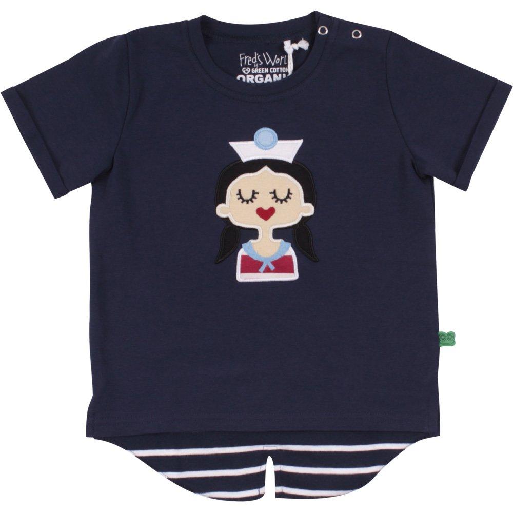 Freds World by Green Cotton M/ädchen Sailor Front T Girl Baby T-Shirt