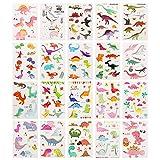 ZooawaDinosaurTemporaryTattoo [Packof20Sheet], KidsCuteDinoTattoosPartyFavorSet[Over100TemporaryTattoos] forBoysandGirls,Colorful