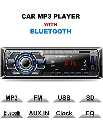 Autoradio Bluetooth, CompraFun Manos Libres Radio Estéreo de Coche, Apoyo de Reproductor MP3,