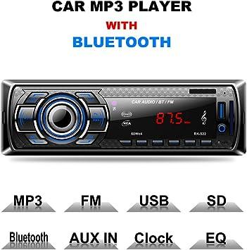 Autoradio Bluetooth Rixow Manos Libres Estéreo de Coche Apoyo de Reproductor M