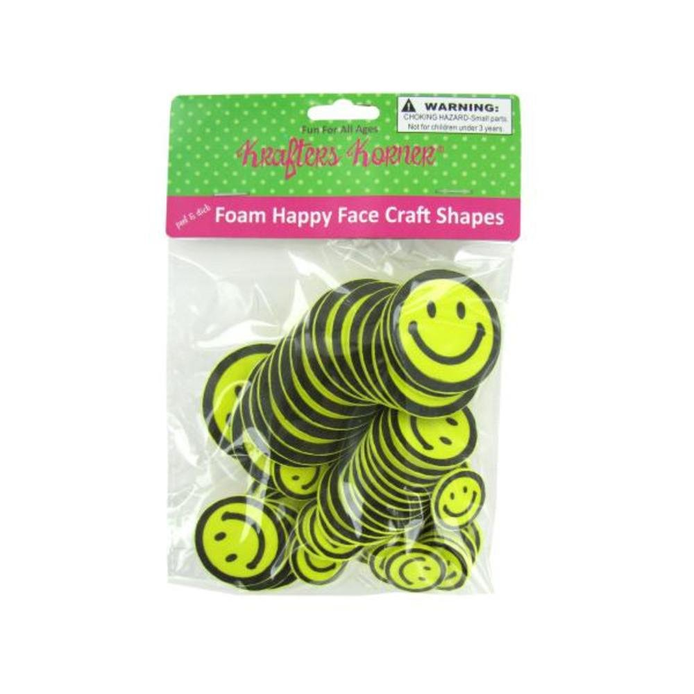 Foam Happy Face Craft shapes-package数量、24 B00AY2DHH2