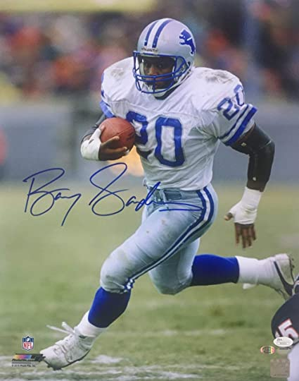 size 40 c0377 015f1 Barry Sanders Signed 16x20 Detroit Lions White Jersey Photo ...