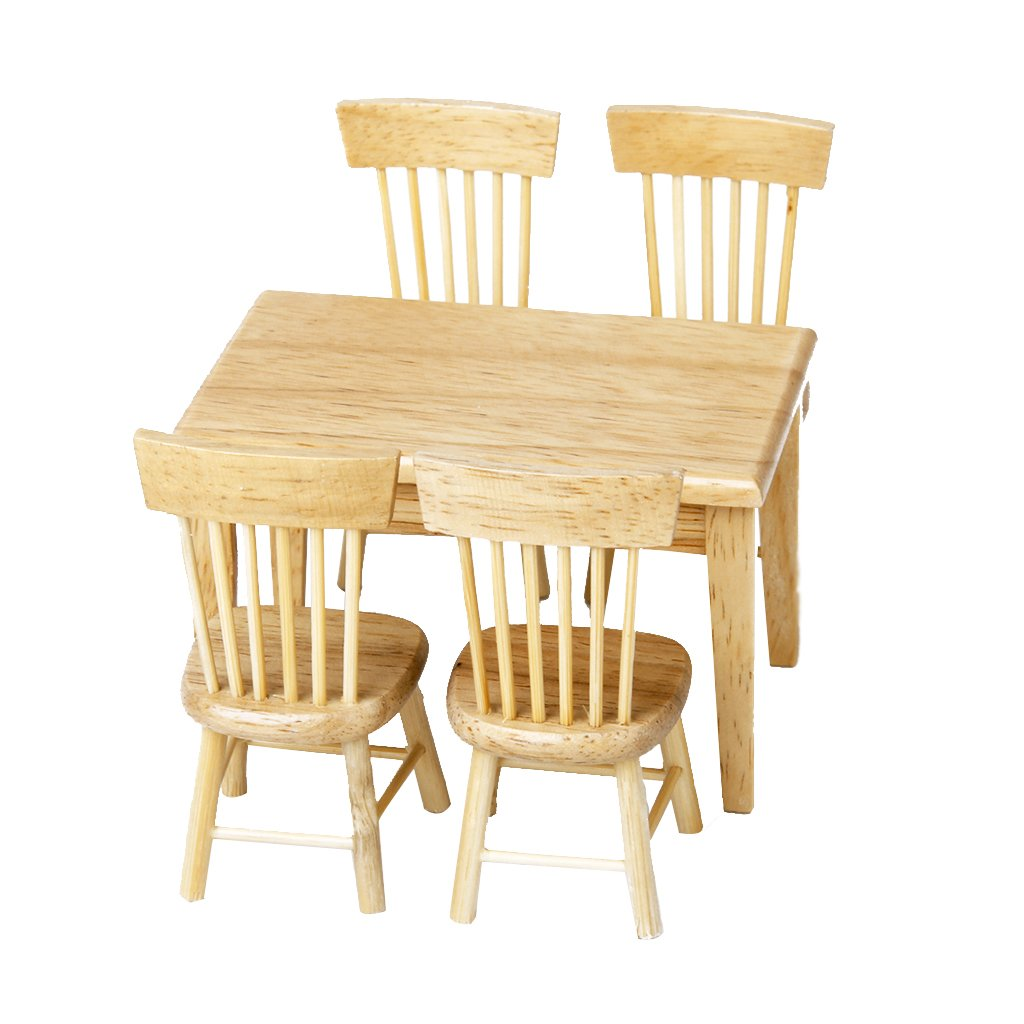 miniature furniture cardboardwood routers. Miniature Furniture. Amazon.com: Lowpricenice 5pcs Wooden Dining Table Chair Model Set 1 Furniture Cardboardwood Routers N
