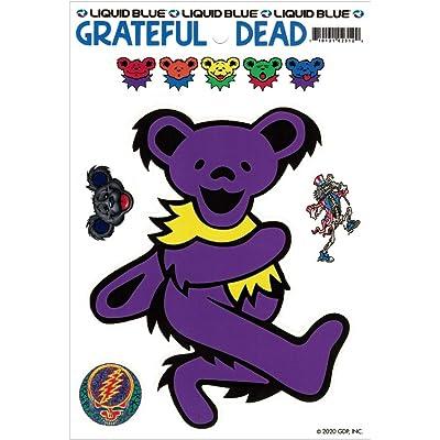 Liquid Blue Grateful Dead Purple Dancing Bear - Bumper Sticker/Decal: Automotive