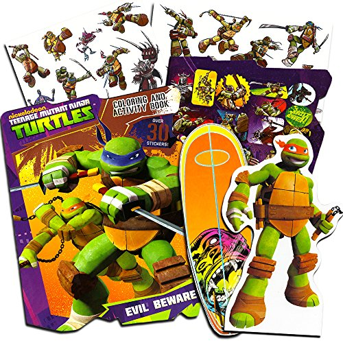 Teenage Mutant Ninja Turtles Ultimate Activity Set -- TMNT Magnetic Wooden Figure, Coloring Book, Stickers and Temporary Tattoos]()