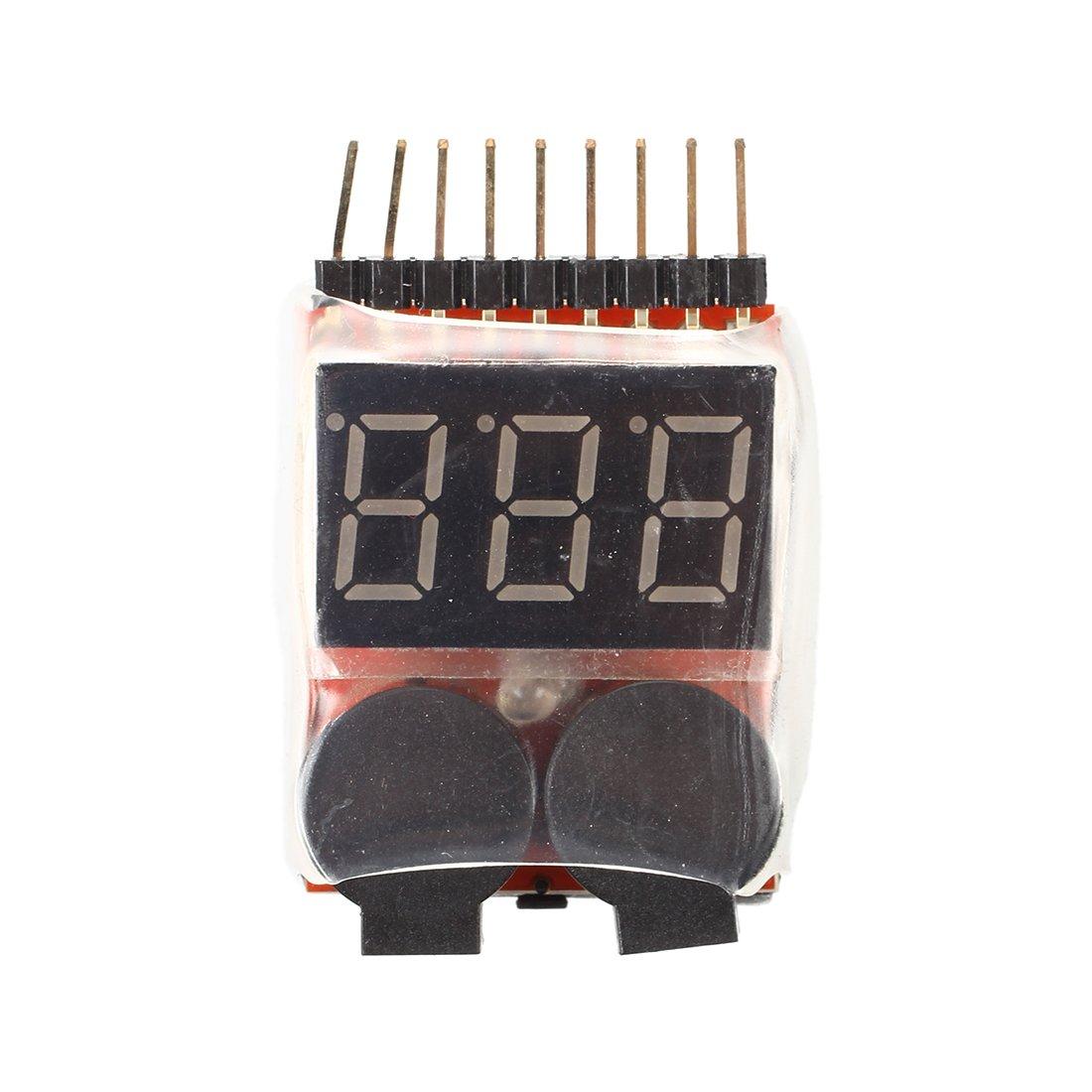 TOOGOO(R) Lipo Battery Voltage Tester 1S-8S link + Low Voltage Buzzer Alarm