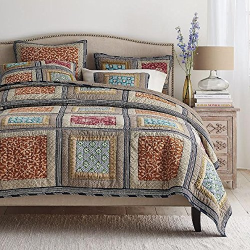 Roses Cotton Quilt Bedspread Set