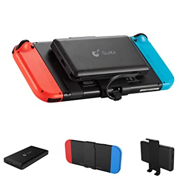 GuliKit Bateria Externa 10000mAh Power Bank para Nintendo Switch, 2 Puerto de Salida(USB C y USB) 5V/3A Carga Rápida Cargador Portátil Movil para ...