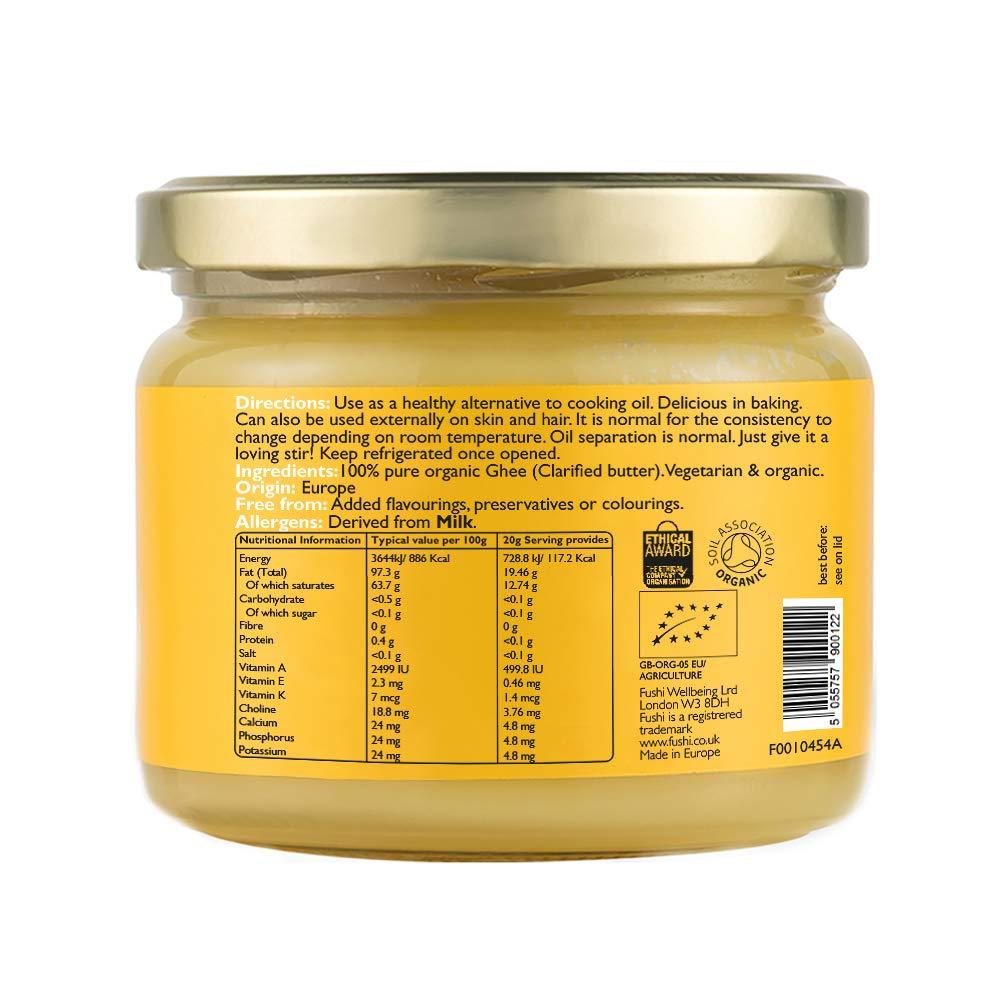 29f941b3e2d Fushi Organic Ghee 230g - Organic Certified