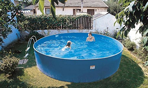 Zizy Pools Amazing Above Ground Steel Free-Standing Swimming Pool - Lagoon  (15 x 3ft)