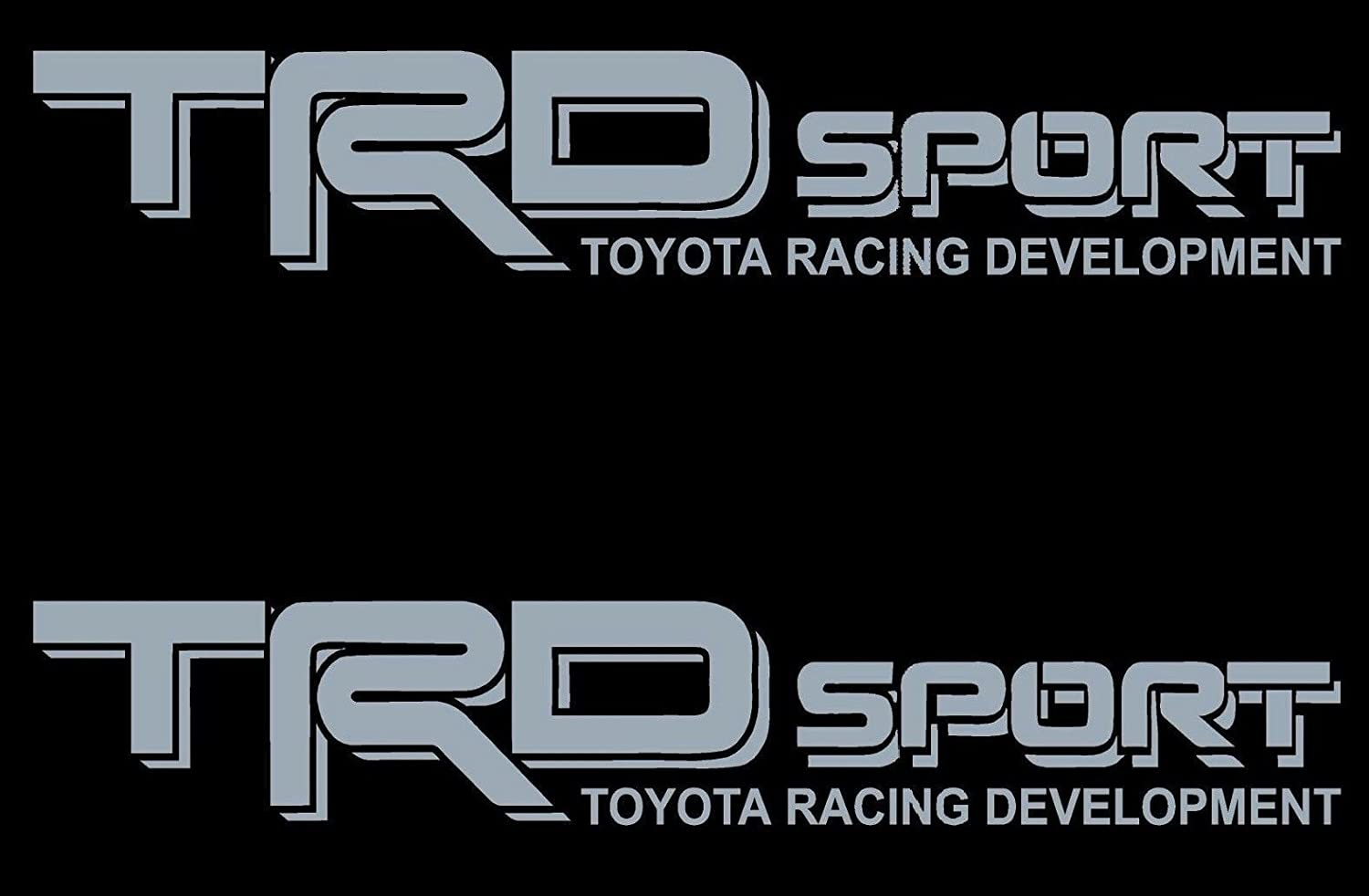 US Fast Ship New TRD SPORT Black Gray Wording Decals Vinyl Stickers Graphics Letters Side Toyota Tacoma 4x4 Racing Development Pickup Truck Auto Car Compatible Use Tstick