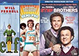 Step Brothers + Semi-Pro & Elf DVD Will Ferrel Collection Comedy Set 3 Movies
