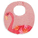 Mud Pie Baby-Girls Newborn Flamingo Bib, Multi, One Size