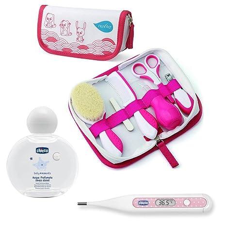 Juego de cuidado de nuvita para recién nacidos//Girl//cepillo auténtica lana