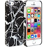 iPhone 5s Case, GMYLE Snap Cover Glossy Marble Pattern for iPhone 5/ iPhone 5s - Black Marble Pattern Slim Fit Snap On Protective Hard Shell Back Case ...