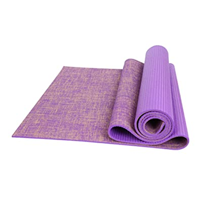 Amazon.com : Yoga mat 4mm Natural Rubber Flax Fitness Ultra ...