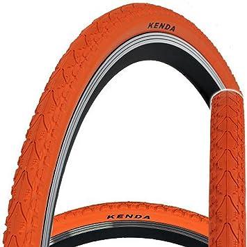 Kenda KHAN K935 - Cubierta para bicicleta, 700 x 38 C, velocidad única, fija, Khan, naranja: Amazon.es: Deportes y aire libre
