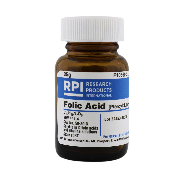 Folic Acid [Pteroylglutamic acid] [Vitamin M], 25 Grams